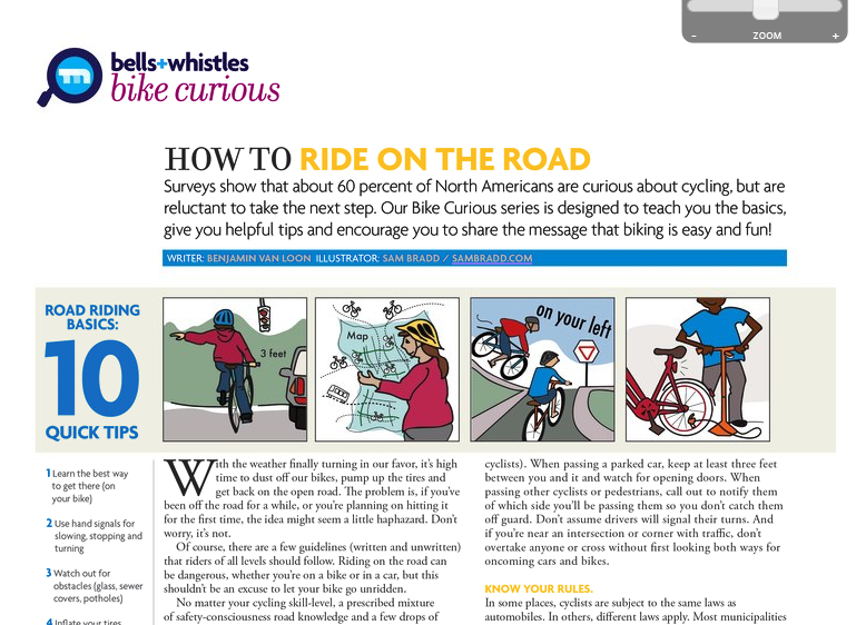 bicycle safety- distance from cars, maps, communicating, pumping tires