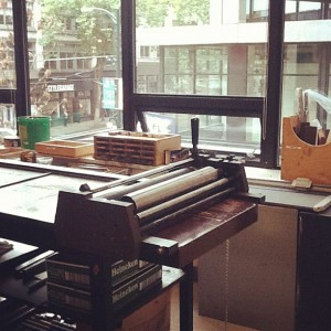 W2 letterpress studio view